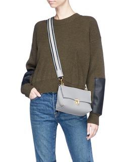 A-Esque 'Home Bag S' stripe strap leather crossbody bag