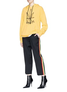 Adaptation Tricolour stripe outseam twill pants