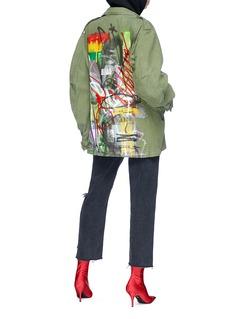 Adaptation 'Surplus' graffiti print canvas field jacket