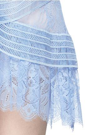 Detail View - Click To Enlarge - self-portrait - Floral guipure lace off-shoulder mini dress