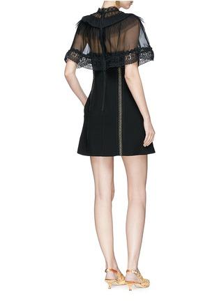 Figure View - Click To Enlarge - self-portrait - Chiffon cape overlay cady mini dress