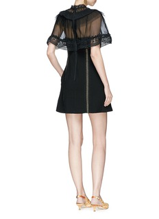 self-portrait Chiffon cape overlay cady mini dress