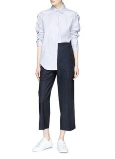 Cédric Charlier Contrast stitch cropped pants