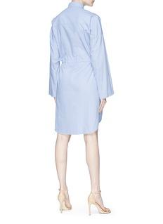 Cédric Charlier Sash throatlatch drawstring poplin shirt dress