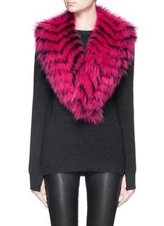 ISLA'Eski-V' fox fur scarf