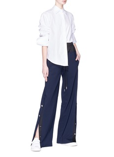 Cédric Charlier Button outseam virgin wool blend suiting pants