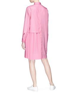 Cédric Charlier Asymmetric shirt panel plissé pleated dress