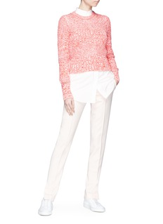 Cédric Charlier Perforated panel sweater