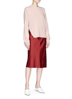 TIBI 系带衣袖美利诺羊毛针织衫