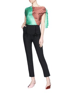 Tibi 'Anson' lace-up cropped suiting pants
