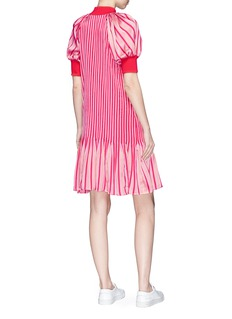 Maggie Marilyn 'Secret Weapon' banded hem stripe silk dress