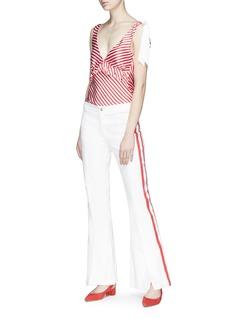 Maggie Marilyn 'Diana' ruffle silk satin camisole top