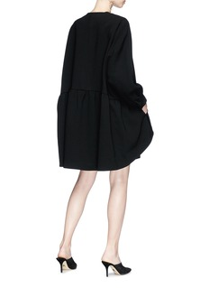 Co Batwing sleeve peplum coat