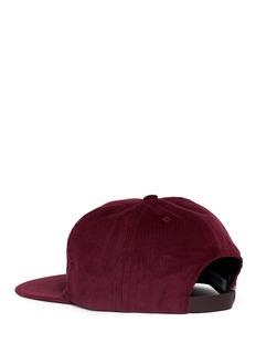 Bianca Chandon Logo print corduroy baseball cap