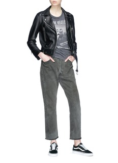 Icons Reconstructed cropped slim slouch jeans