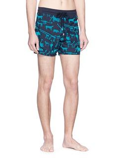 Vilebrequin 'Moorea' animal velvet flock print swim shorts