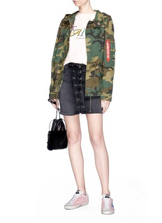 Alpha Industries 'Swoop' camouflage print fishtail field jacket