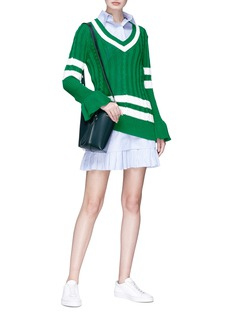 Maggie Marilyn 'Go the Distance' stripe mix knit sweater