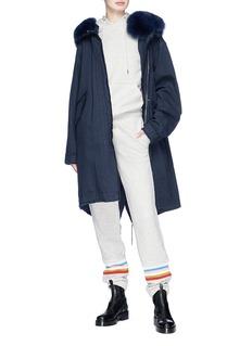 Alexa Chung Stripe panel hoodie