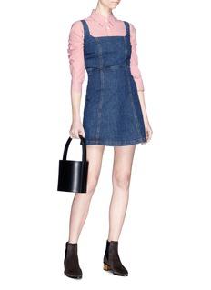Alexa Chung 镂空设计牛仔连衣裙