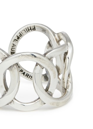 Detail View - Click To Enlarge - Philippe Audibert - 'Columbus' cutout chain link ring