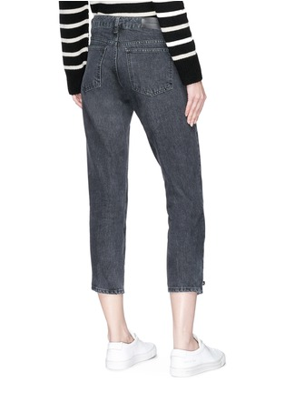 Back View - Click To Enlarge - VICTORIA, VICTORIA BECKHAM - Hook-and-eye cuff cropped jeans