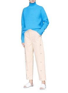 VICTORIA, VICTORIA BECKHAM Snap button cropped pants