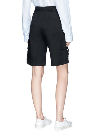 Back View - Click To Enlarge - VICTORIA, VICTORIA BECKHAM - Cargo pocket twill shorts