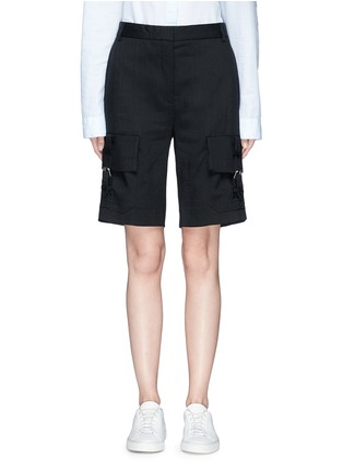 Main View - Click To Enlarge - VICTORIA, VICTORIA BECKHAM - Cargo pocket twill shorts