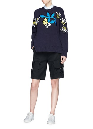 Figure View - Click To Enlarge - VICTORIA, VICTORIA BECKHAM - Cargo pocket twill shorts