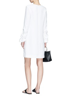 VICTORIA, VICTORIA BECKHAM Twist cuff crepe shift dress