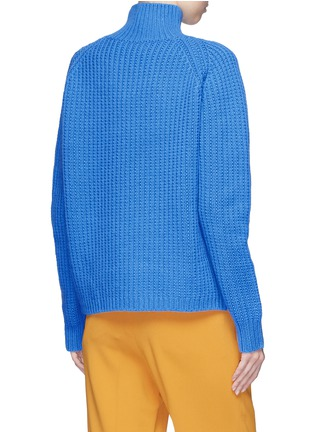 Back View - Click To Enlarge - VICTORIA, VICTORIA BECKHAM - Lambswool funnel neck sweater