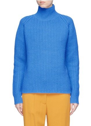 Main View - Click To Enlarge - VICTORIA, VICTORIA BECKHAM - Lambswool funnel neck sweater
