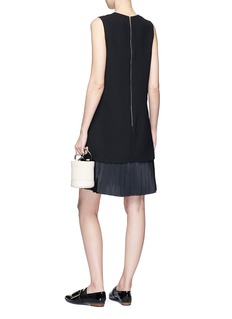 VICTORIA, VICTORIA BECKHAM Pleated hem suiting dress