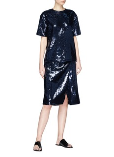 VICTORIA, VICTORIA BECKHAM Sequin split front skirt