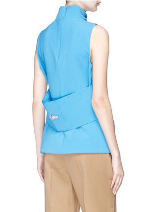Back View - Click To Enlarge - VICTORIA, VICTORIA BECKHAM - Hook-and-eye back sleeveless top