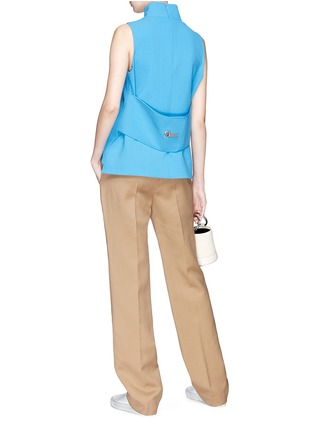 Figure View - Click To Enlarge - VICTORIA, VICTORIA BECKHAM - Hook-and-eye back sleeveless top