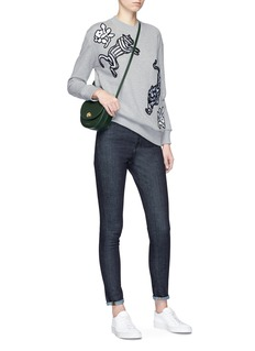 VICTORIA, VICTORIA BECKHAM Tiger and floral patch sweatshirt