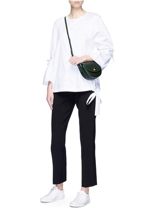 Figure View - Click To Enlarge - VICTORIA, VICTORIA BECKHAM - Cropped straight leg suiting pants