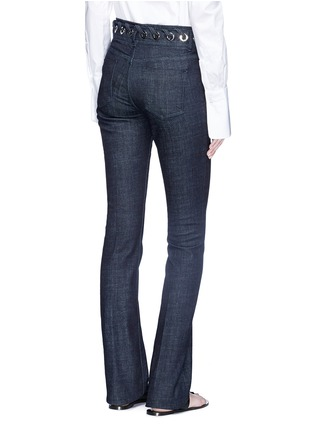 Back View - Click To Enlarge - VICTORIA, VICTORIA BECKHAM - Whipstitch waistband slim flared jeans