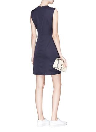 Figure View - Click To Enlarge - VICTORIA, VICTORIA BECKHAM - Asymmetric drape mock wrap satin dress