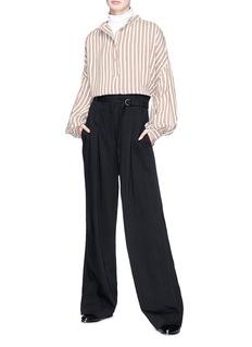 Isabel Marant 'Ilda' stripe mandarin collar shirt