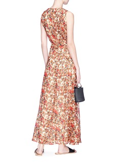 Isabel Marant 'Flessy' floral print crepe mock wrap maxi dress