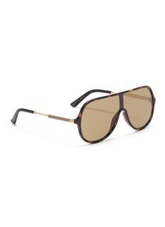 Gucci Metal temple tortoiseshell acetate aviator sunglasses