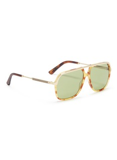 Gucci Tortoiseshell acetate aviator sunglasses