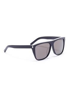 Saint Laurent Metal brow bar acetate D-frame sunglasses