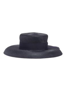 Borsalino 'Audrey' grosgrain bow straw panama hat