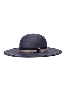 Maison Michel 'New Alice' scalloped crochet brim straw capeline hat