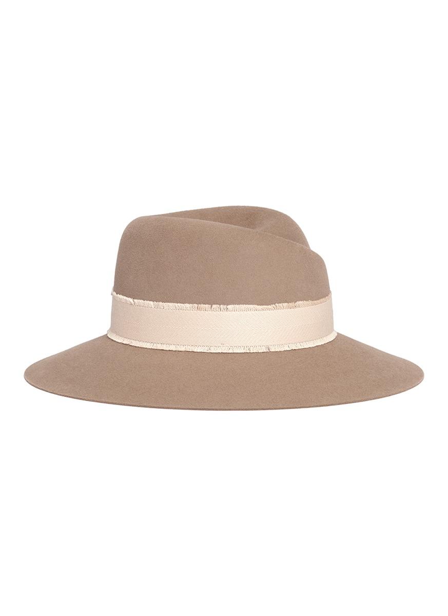 maison michel female virginie rabbit furfelt fedora hat
