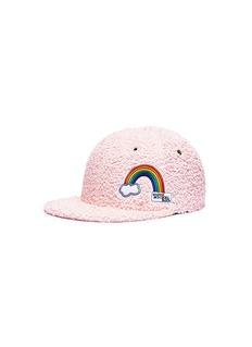 Maison Michel 'Hailey' rainbow patch baseball cap
